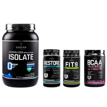 Combo 5: 1 ISOLATE $47 + 1 FIT 9 $59 + 1 BCAA $41 + 1 RESTORE $59